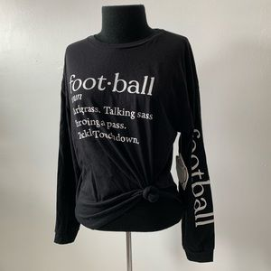 French Pastry long sleeve football tee
